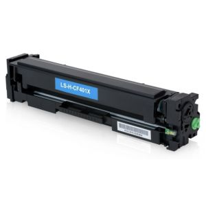 Toner HP CF401X (201X), azuriu (cyan), alternativ