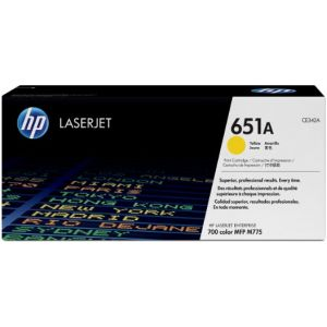 Toner HP CE342A (651A), galben (yellow), original