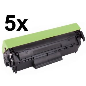 Toner 5 x HP CF283X (83X), päťbalenie, negru (black), alternativ