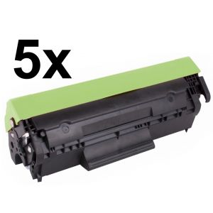 Toner 5 x HP CF283A (83A), päťbalenie, negru (black), alternativ