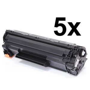 Toner 5 x HP CE285A (85A), päťbalenie, negru (black), alternativ